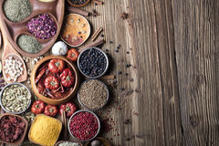 Nutitrion theme, spices Royalty Free Stock Image