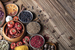 Nutitrion theme, spices Royalty Free Stock Photos