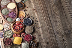 Nutitrion theme, spices Royalty Free Stock Photo