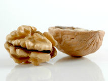 nutmeat καρύδια Στοκ Φωτογραφίες