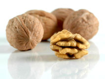Nutmeat and nuts Stock Images