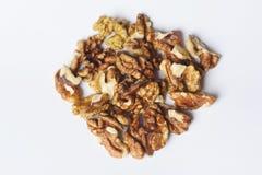 Nutmeats oscuros Fotos de archivo libres de regalías