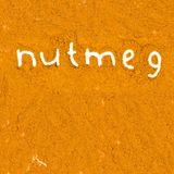 Nutmeg abstract Stock Photo