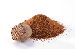 Nutmeg and dust Royalty Free Stock Photography