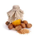 Nutmeg essential oil. Royalty Free Stock Image