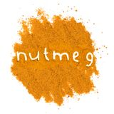 Nutmeg heap Royalty Free Stock Image