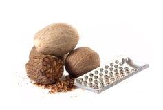 Nutmeg isolated on white Stock Image
