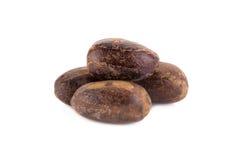 Nutmeg isolated on white background Stock Photos