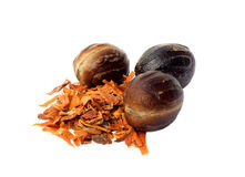 Nutmeg or Jaifal Spice with Javitri Spice Royalty Free Stock Photo