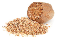 Nutmeg or Jaifal Spice Stock Photos