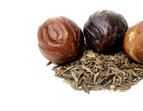 Nutmeg or Jaifal Spice with Zira seed Stock Image