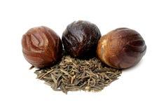 Nutmeg or Jaifal Spice with Zira seed Royalty Free Stock Photos