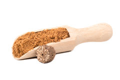 Nutmeg powder in scoop Stock Image