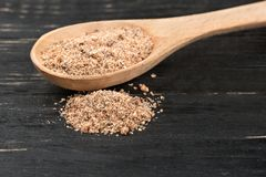 Nutmeg powder in spoon Stock Images