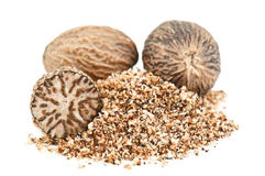 Nutmeg powder Stock Photography