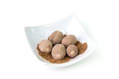 Nutmeg seeds Royalty Free Stock Photo