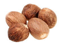Nutmeg spice Stock Images