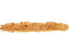 Nutmeg on white Stock Image
