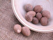 Nutmegs Royalty-vrije Stock Foto's