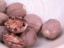 Nutmegs Royalty-vrije Stock Afbeeldingen