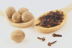 Nutmegs and cloves Stock Photography
