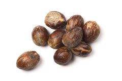 Nutmegs heap Stock Photos