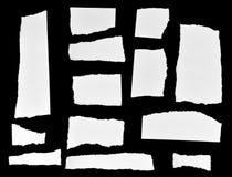 nutowego papieru kawałki drzejący Zdjęcie Stock