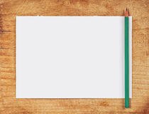 nutowego papieru ołówek Zdjęcia Royalty Free