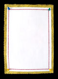 nutowego papieru szpilek pchnięcie Zdjęcie Stock