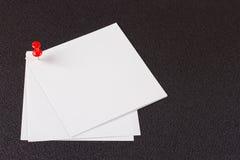 nutowego papieru szpilki czerwień Zdjęcie Stock