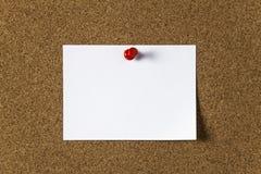 nutowego papieru szpilki pchnięcie Fotografia Stock