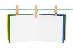 nutowy clothespin papier Zdjęcie Royalty Free