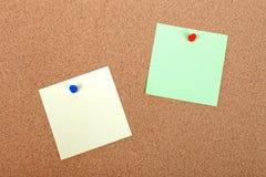 nutowy corkboard attched papier zdjęcia stock