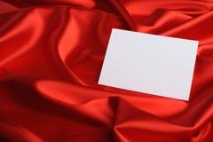 nutowy czerwony jedwab Obraz Royalty Free