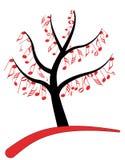nutowy muzyki drzewo Zdjęcie Royalty Free