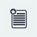 nutowy płaski projekt, oceny notatki projekt, książkowy projekt, Papierowy projekt, Obrazy Stock