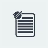nutowy płaski projekt, oceny notatki projekt, książkowy projekt, Papierowy projekt, Obrazy Royalty Free