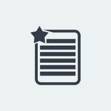nutowy płaski projekt, oceny notatki projekt, książkowy projekt, Papierowy projekt, Obraz Royalty Free