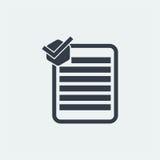nutowy płaski projekt, oceny notatki projekt, książkowy projekt, Papierowy projekt, Zdjęcia Stock