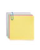 Nutowy papier i klamerka na bielu Zdjęcie Royalty Free