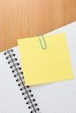 Nutowy papier i sprawdzać ochraniacz Obraz Stock