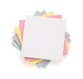 Nutowy papier na bielu Fotografia Stock