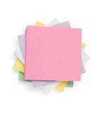 Nutowy papier na bielu Zdjęcia Stock