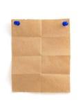Nutowy papier na bielu Obrazy Royalty Free