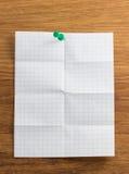 Nutowy papier na drewnie Obraz Stock