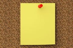 Nutowy papier uschnięty na korek desce Zdjęcia Stock