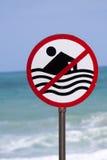 nutowy szyldowy ostrzeżenie Zdjęcie Stock