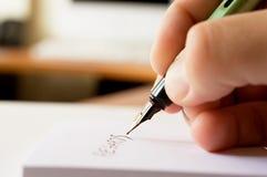 nutowy writing zdjęcie royalty free