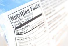 Nutrição Foto de Stock