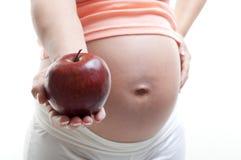 Nutrição da gravidez Foto de Stock Royalty Free
